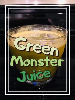 Green Monster Juice glass