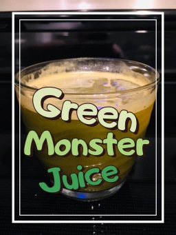 Green Monster Juice glass